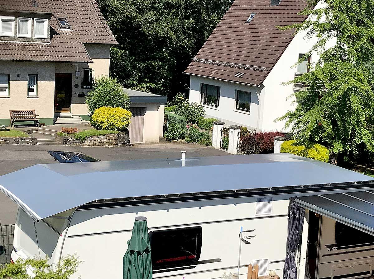 wohnwagen schutzdach 625 674 cm ma anfertigung inkl. Black Bedroom Furniture Sets. Home Design Ideas