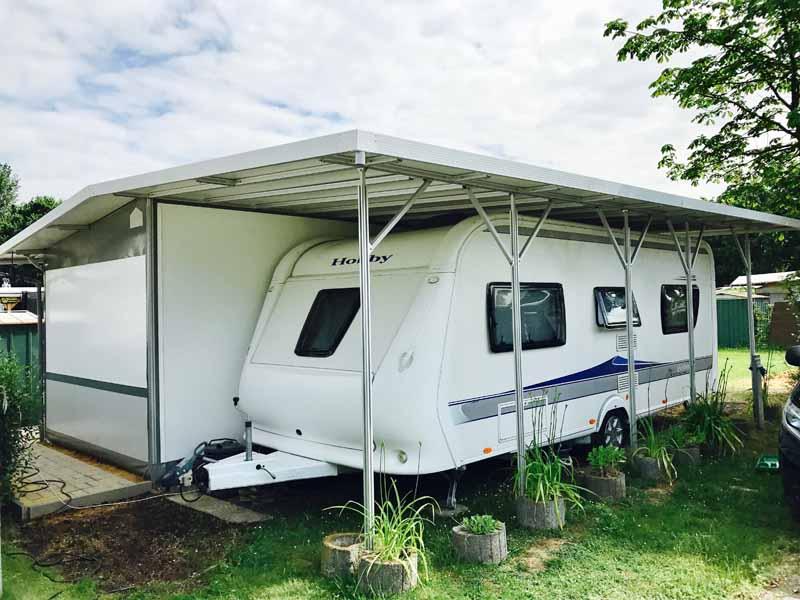 Gut gemocht Wohnwagen Carports nach Maß - Schall Camping OI49